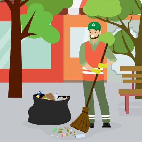 propreteurbaine - illustration-ville - agent